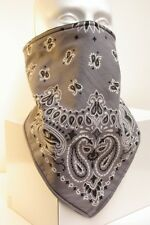 Grey Prospector Style Recreational Fleece Lined Bandana Motorcycle Face Mask