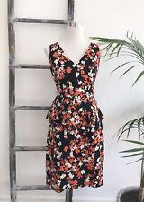 Veronika Maine Cotton Printed Peplum Dress - Size 10