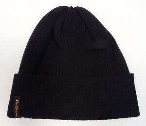 Ben Sherman Docker Skull Beanie Hat Black Mens Womens Designer Fashion