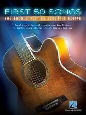First 50 Songs You Should Play on Acoustic Guitar (TAB, chords and lyrics)