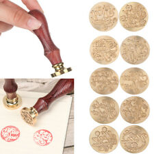 Christmas Thank You Wooden Handle Sealing Stamps Retro Paint Seal Wax Stamp