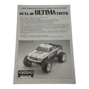 Kyosho Outlaw Ultima Truck Rc Car vintage Rare Instruction Manual OZRC ML