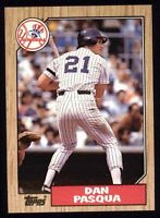 Lot Of 170 1987 Topps Baseball Dan Pasqua Card # 74 NY Yankees
