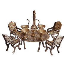 Brass Dining Table chair Antique Designer brass decorative item for home kitchen