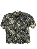 Havana Jacks Cafe Men's Hawaiian Floral Drinks 100% Silk Camp Shirt Size XL Nice