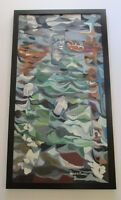 LARGE ROBERT DAVIS PAINTING ABSTRACT EXPRESSIONISM CUBISM CUBISM 1960'S MODERN