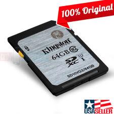 Kingston 64GB SDXC 45MB/s UHS U1 Class 10 64G SD full HD Flash card SD10VG2/64GB