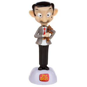 Licensed Mr Bean with Teddy solar powered moving dancing figure ornament 14.5 cm