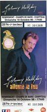TICKET BILLET CONCERT JOHNNY HALLYDAY REMIREMONT 1998 AFFRANCHI TIMBRE TOUR 66