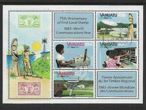 1983 World Communications Year Mini Sheet Fine Used
