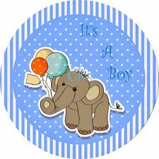 BABY BOY SHOWER 8inch  Edible Image Frosting Sheet Cake OR CUPCAKE Toppers..