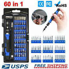 60 in 1 Magnetic Precision Screwdriver Set Computer Pc Phone Repair Tool Kit US