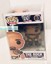 Funko Pop! Wwe The Rock (03) Vinyl Figure Vaulted Retired New W/Pop Protector