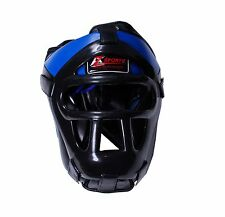 AZ COMPETITION BOXING HEADGEAR HEADGUARD WITH REMOVABLE GRILL SIZE(LARGE)BG-1475