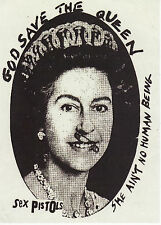 SEX PISTOLS STICKER GOD SAVE THE QUEEN ENGLISH PUNK ROCK 1977 SID VICIOUS A6