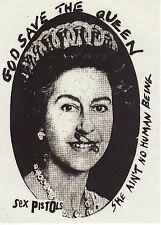 Sex PISTOLS PEGATINA Dios salve a la reina inglés Punk Rock 1977 Sid Vicious A6