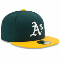 OAKLAND A's ATHLETICS Home New Era 5950 On Field Cap Fitted MLB Green Hat