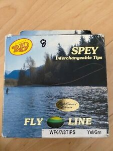RIO Spey fly line WF6/7/8TIPS WindCutter Yellow/green