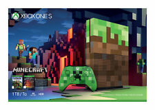 Microsoft Xbox One S Minecraft Limited Edition 1TB Green/Brown Console