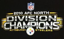 Pittsburgh Steelers T Shirt Large Mens NFL 2010 AFC North Division Champions Blk