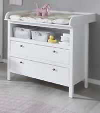 Baby Wickelkommode in weiß Wickeltisch Babyzimmer Kommode mit Wickelaufsatz Ole