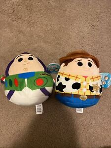 "Squishmallow Buzz & Woody Toy Story  8"" Disney Collectable Stuffed NWT"