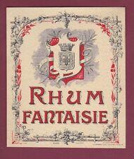 Etiquette 250515 - RHUM - SPECIMEN D'ETIQUETTE - rhum fantaisie - écusson