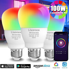 Wifi Smart Multi-Color LED Light Bulb 15W(100W) APP Dimmable For Alexa/Google US