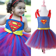 Kids Baby Girls Superman Tutu Dress Summer Party Dresses Cosplay Costume Outfits