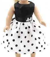 Puppen Kleidung Party Kleid schwarz weiß Abendkleid Ballkleid für 40 cm Puppen