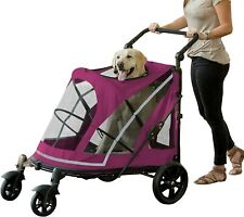 Pet Gear No-Zip Expedition Extra Large Dog Cat Pet Stroller 150lb Capacity New