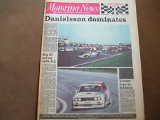 Motoring News 28 May 1987 Indy 500 Anderstorp ETC Lancia Delta HF4x4 BTCC F3