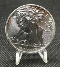 "2019 Niue $2 Roaring Lion of Judah ""the Truth Series"" Silver 999 1 oz Coin"
