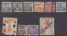 Italy Social Insurance Revenues 1950-52 10 diff stamps Barefoot cv $35