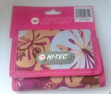 HI-TEC GIRL  BOYS TRIFOLD SPORTS STYLE COINS WALLET FLORAL COLOUR Pink