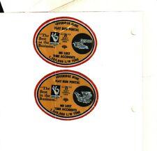 New listing Set Of 2 Nice Loveridge Consol Coal Co. Coal Mining Stickers # 983