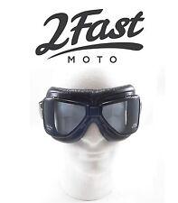 2FastMoto Roadhawk Goggles Cruiser Triumph Victory Buell Harley Davidson Chopper