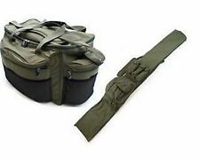 LARGE CARP PIKE FISHING CARRYALL TACKLE BAG + 3+3 ROD HOLDALL BAG 12/13FT RODS
