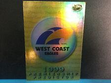 AFL VFL1999 Select  Premiership Predictor Card PC15 : West Coast Eagles