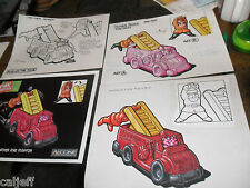 4 Lot Original Art Pink Panther Fire Fighter Truck Burger King Fast Food Toys