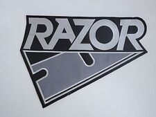 RAZOR THRASH METAL EMBROIDERED BACK PATCH
