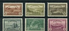 Peace Issue to $1.00 VF MNH Cat $225 Canada mint