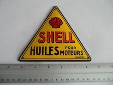 SHELL Motor Oil - Garage Mini Doorpost Dealership - Porcelain Enamel Sign Shield