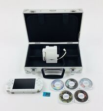 OEM White PSP 2001 Bundle Case Games Charger Tested Sony PlayStation Portable