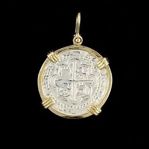 Atocha Sunken Treasure Jewelry - Medium Pieces of 8 Silver Coin Pendant