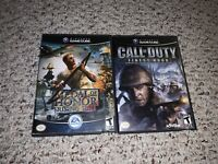 Medal of Honor: Rising Sun & Call Of Duty Finest Hour Nintendo GameCube Lot