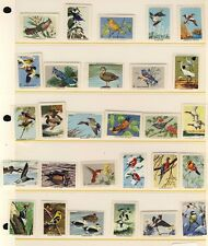 28 National Wildlife Federation Bird Stamps - Duck, Oriole, Pigeon - Item #4077