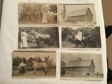 postcards - RPPC, REAL PHOTOS, HORSES AND HORSE FARM BARN, CIRCA 1920