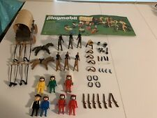 Playmobil Super Deluxe Cowboy Indian Wagon Set Western Vintage 1980s