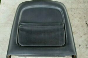 94-96 Infiniti Q45 Passenger Right Front Seat Back Pocket - Rear Black Leather